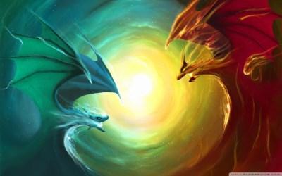 dragon fire water vs 4k hd desktop wallpapers mobile ultra wide