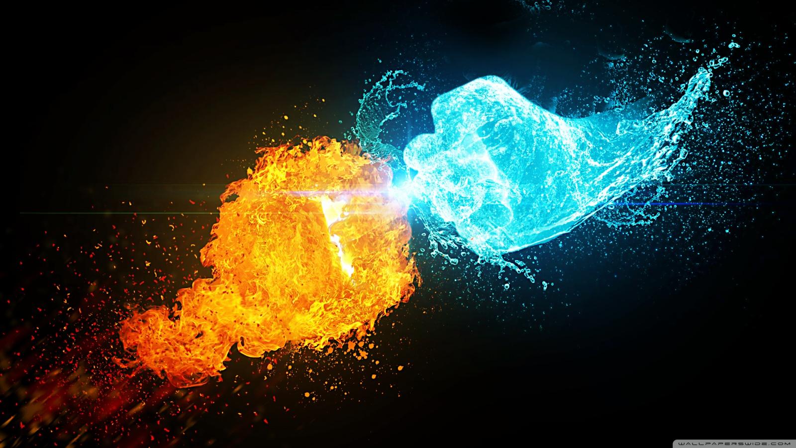 Fire vs Ice 4K HD Desktop Wallpaper for 4K Ultra HD TV  Wide  Ultra Widescreen Displays