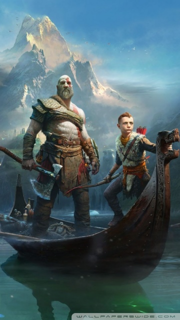 God Of War 4 Wallpaper Iphone X God Of War Kratos And Atreus 2018 Game 4k Hd Desktop