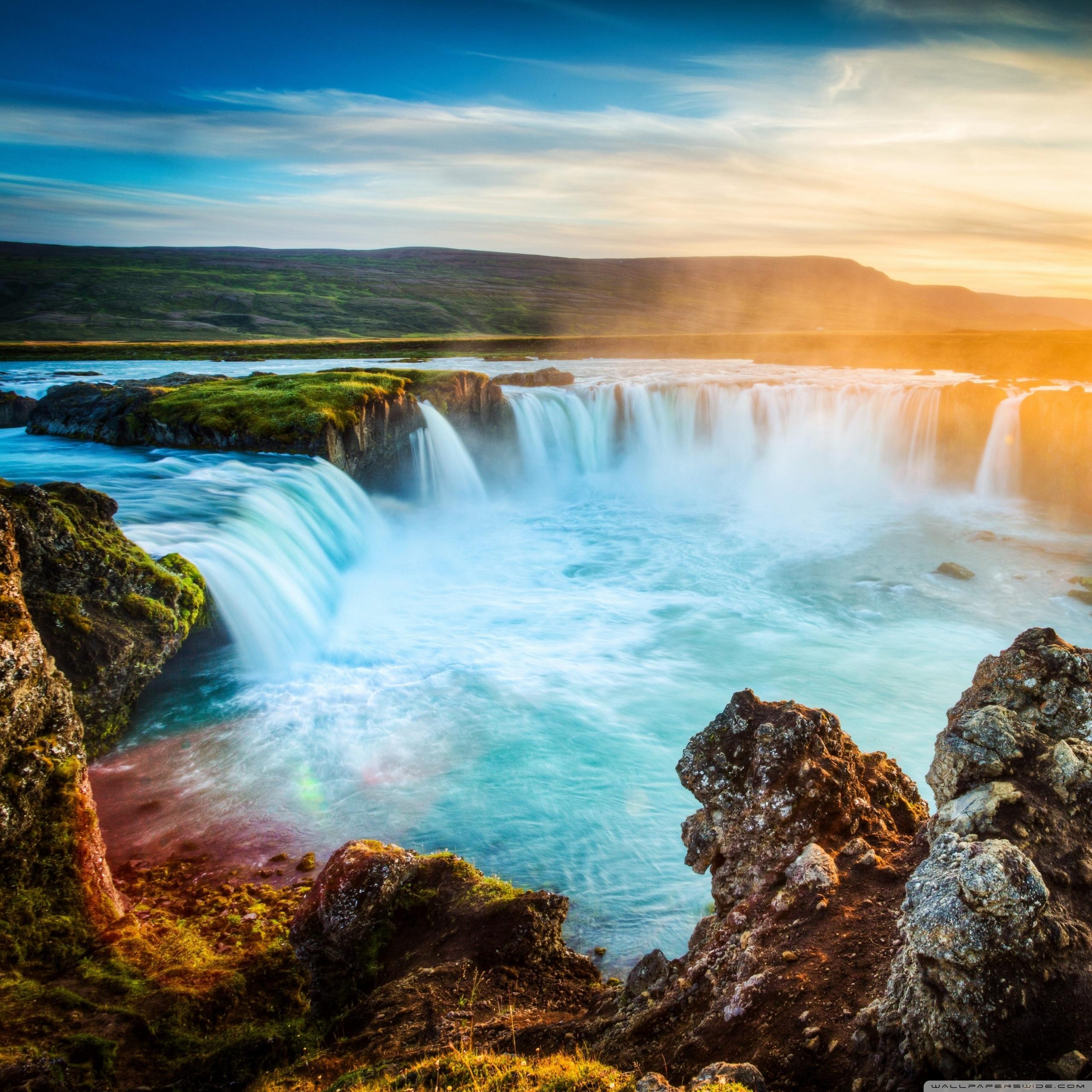 Niagara Falls Wallpaper For Desktop Godafoss Waterfall Iceland 4k Hd Desktop Wallpaper For 4k