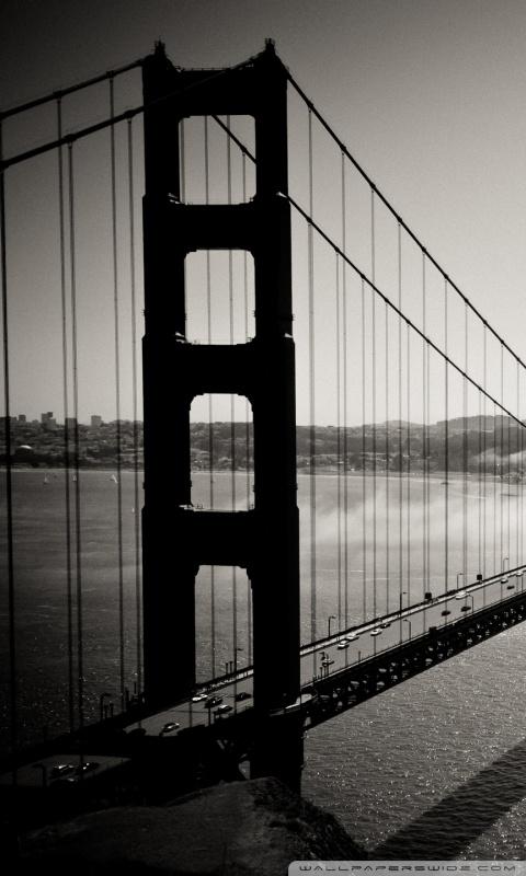 Dual Monitor Wallpaper Hd Golden Gate Bridge Black And White 4k Hd Desktop Wallpaper