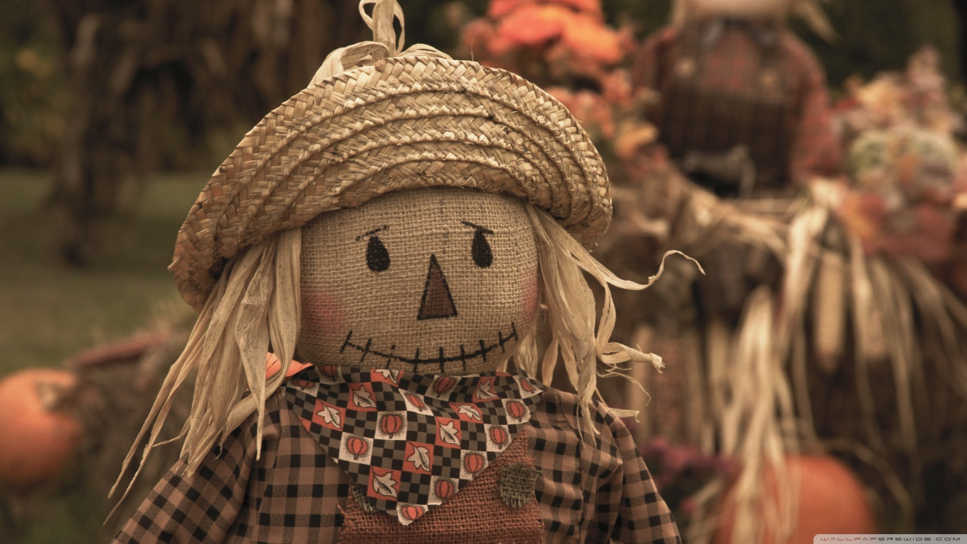Fall Scarecrow Wallpaper Harvest Time Fun Pigeon Forge Tennessee 4k Hd Desktop