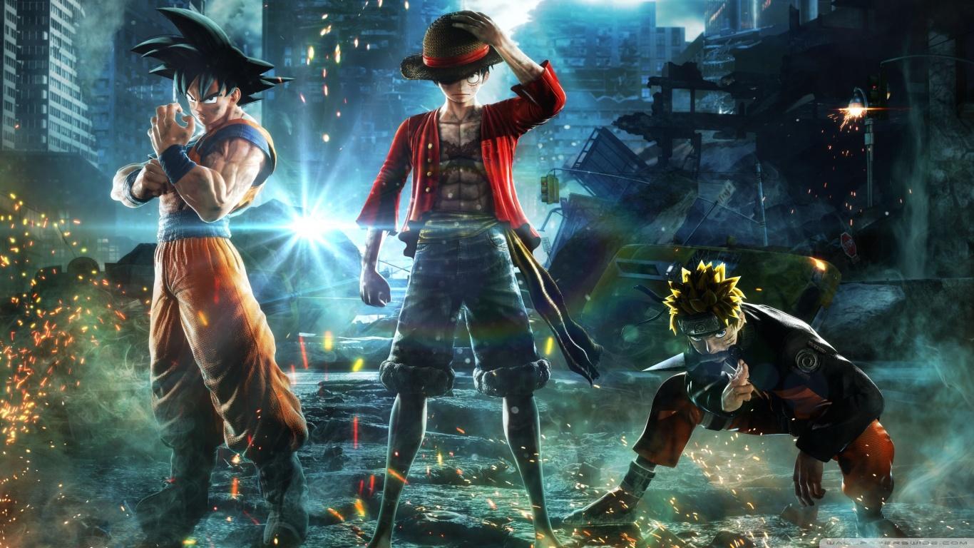 Anime Naruto Wallpaper Hd Jump Force Goku Naruto Luffy 4k Hd Desktop Wallpaper