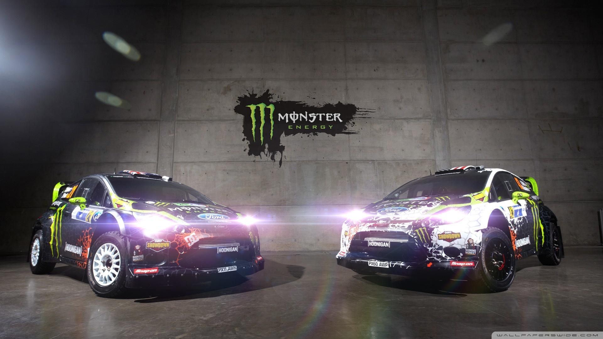 Car Stickers Wallpapers Ken Block Monster Energy Ford Fiesta Wrc 4k Hd Desktop