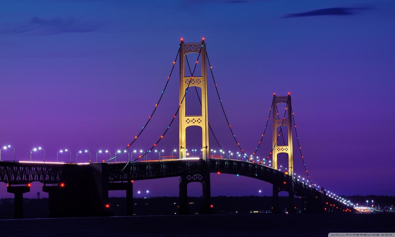 Michigan Fall Colors Wallpaper Mackinac Bridge Michigan 4k Hd Desktop Wallpaper For 4k
