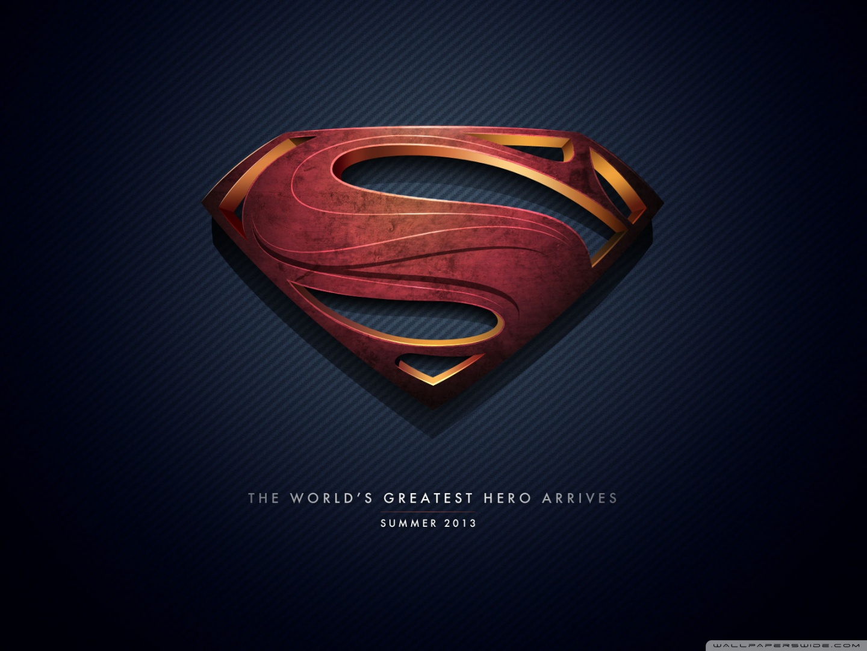 Superman Hd Wallpaper Man Of Steel Logo 4k Hd Desktop Wallpaper For 4k Ultra Hd