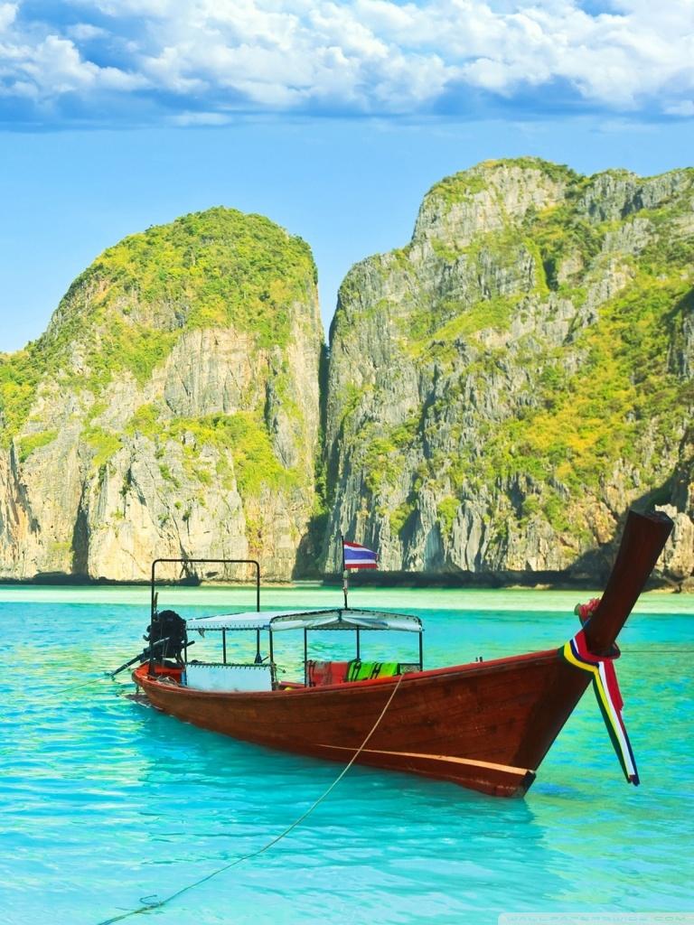 3d Wallpaper Portrait Maya Bay Thailand 4k Hd Desktop Wallpaper For 4k Ultra Hd