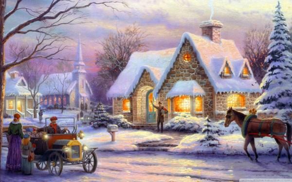 Memories Of Christmas Thomas Kinkade 4k Hd Desktop