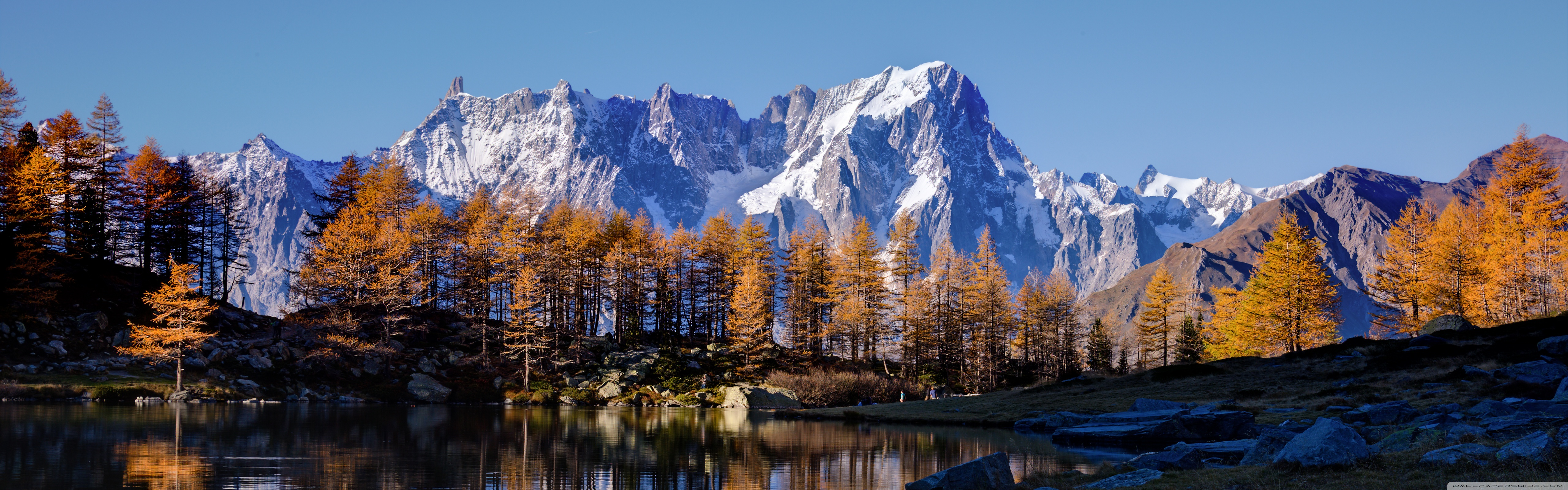 Tablet Wallpaper Europe Fall Mont Blanc Autumn 4k Hd Desktop Wallpaper For Dual