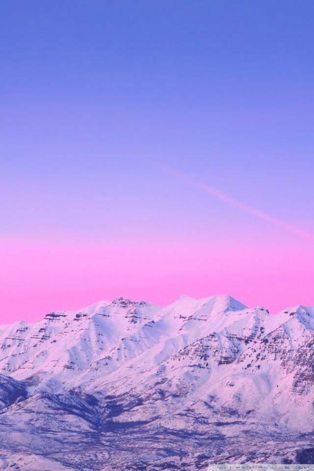 Cute Pastel Color Wallpaper Mount Timpanogos Pink Sunset 4k Hd Desktop Wallpaper For