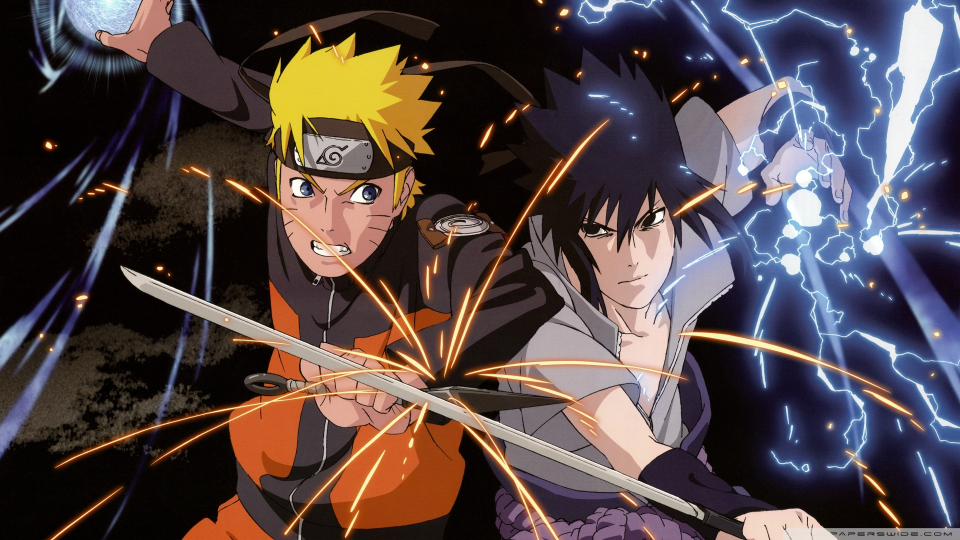 naruto vs. sasuke ❤ uhd desktop wallpaper for ultra hd 4k 8k