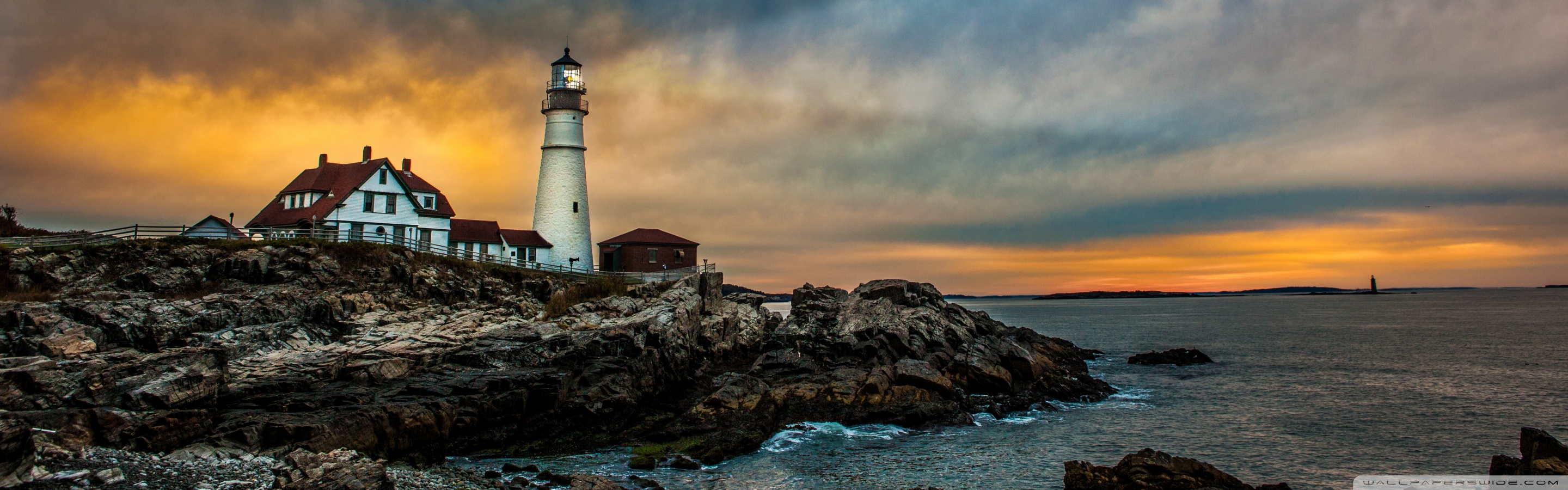 3840x1080 Pubg Wallpaper Portland Head Light Lighthouse 4k Hd Desktop Wallpaper For