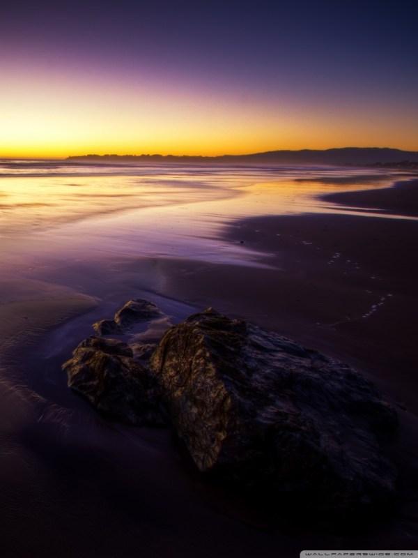 purple beach landscape 4k hd desktop