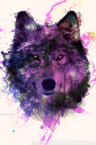 Calming Fall Wallpaper Hd Purple Wolf 4k Hd Desktop Wallpaper For 4k Ultra Hd Tv