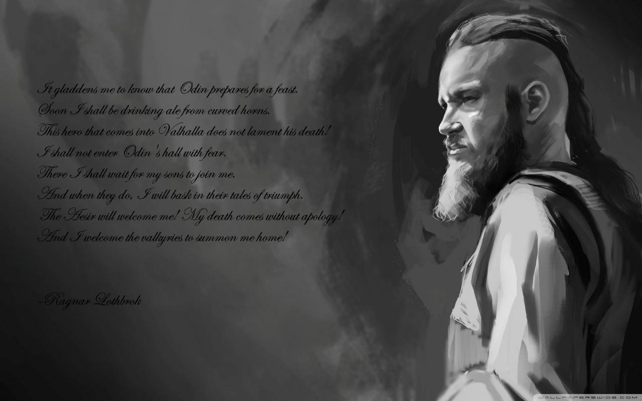 Ragnar Lothbrok Wallpaper Quotes Ragnars Last Words 4k Hd Desktop Wallpaper For 4k Ultra Hd
