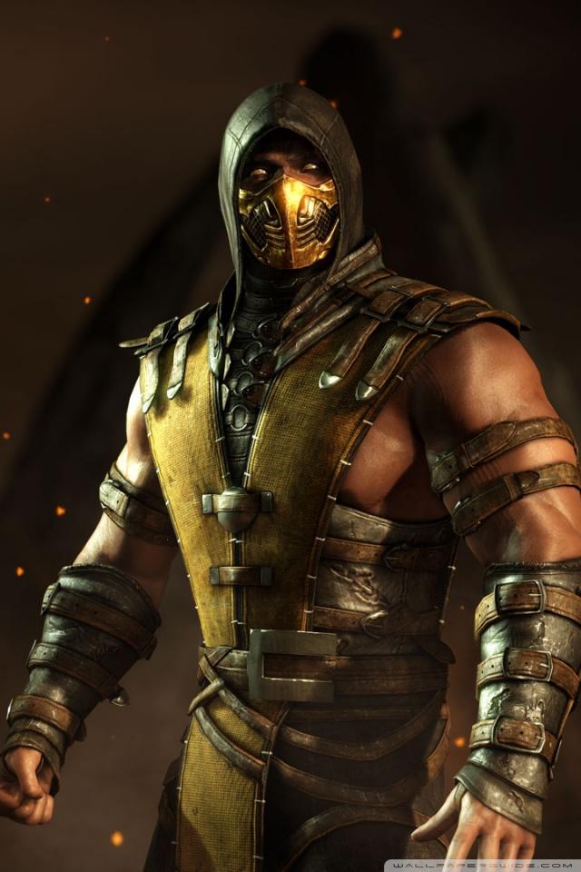 Mortal Kombat X Wallpapers Hd Iphone Scorpion Mortal Kombat X Ultra Hd Desktop Background