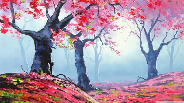 Spring Painting 4k Hd Desktop Wallpaper Ultra Tv Wide & Widescreen Displays