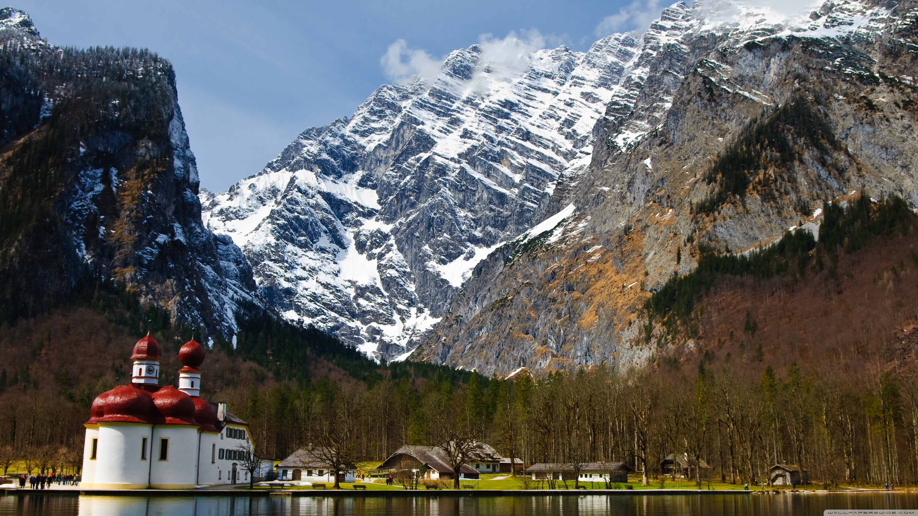 Tablet Wallpaper Europe Fall St Bartholomew S Church Berchtesgaden Germany Ultra Hd