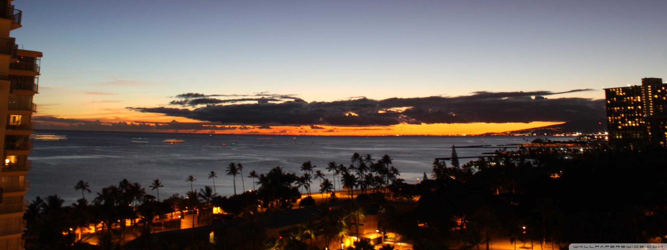 Sundown Oahu Hawaii 4K HD Desktop Wallpaper for 4K Ultra