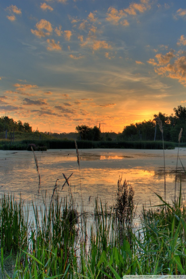 Fall Wallpaper For Tablet Sunrise Over A Pond In The Minnesota River National