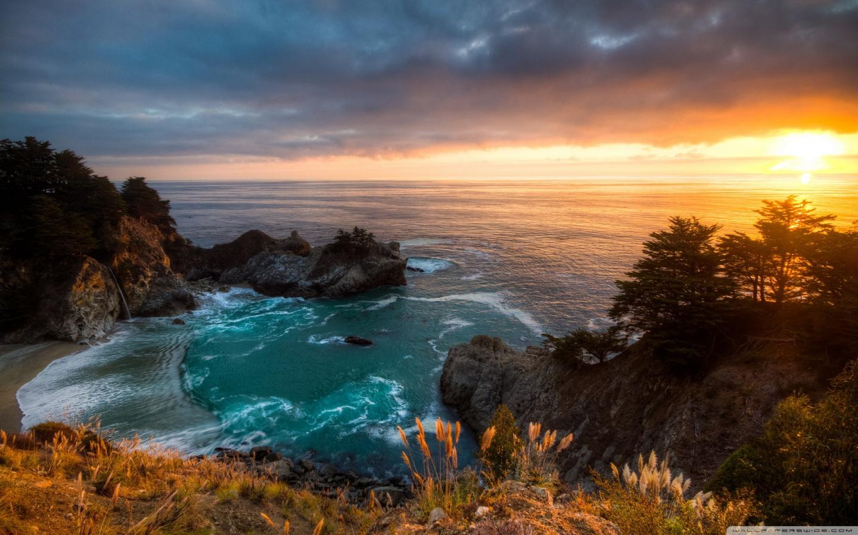 Windows 10 Fall Usa Wallpapers 4k Sunset Mcway Falls California 4k Hd Desktop Wallpaper For