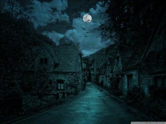 Dark Creepy Fantasy Village