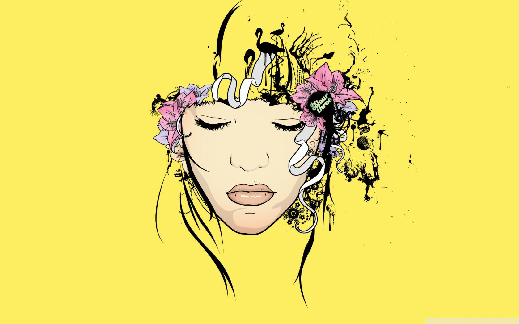 Lotus pink floral vinyl peel & stick wallpaper roll (covers 30.75. The Flower Girl Yellow Ultra HD Desktop Background