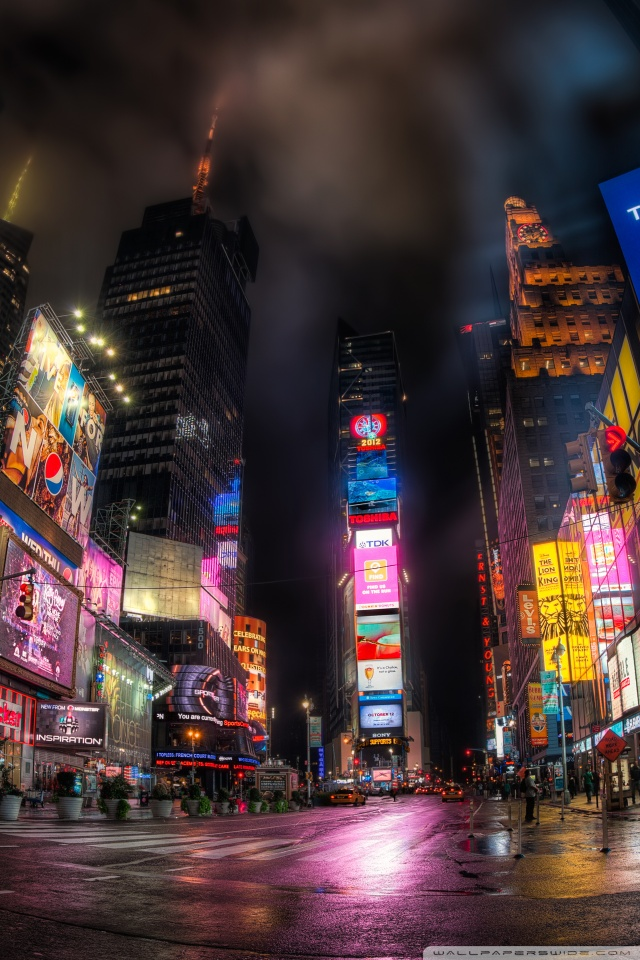 Neon Sign Iphone Wallpaper Times Square At Night 4k Hd Desktop Wallpaper For 4k Ultra