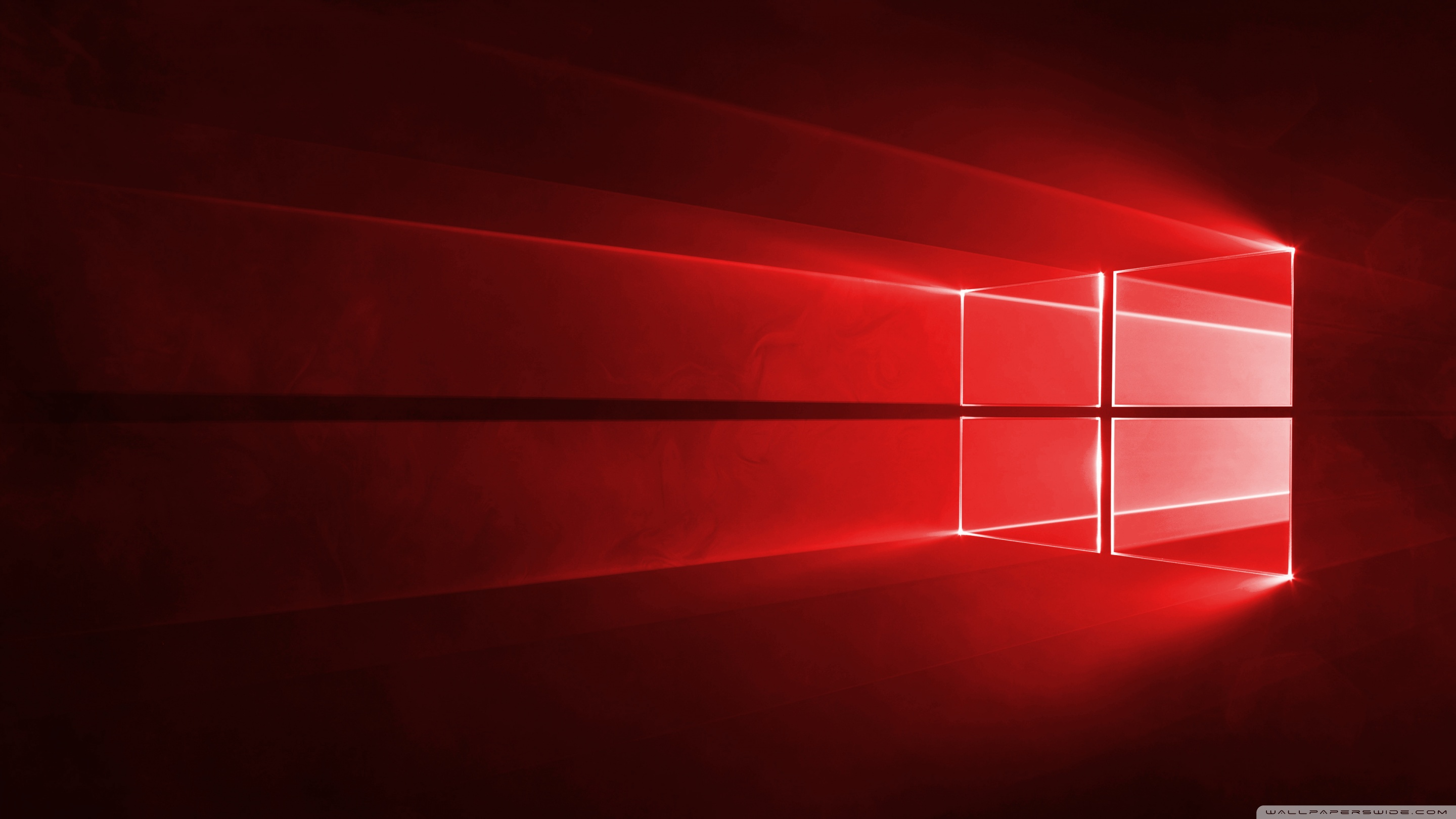 windows 10 red in