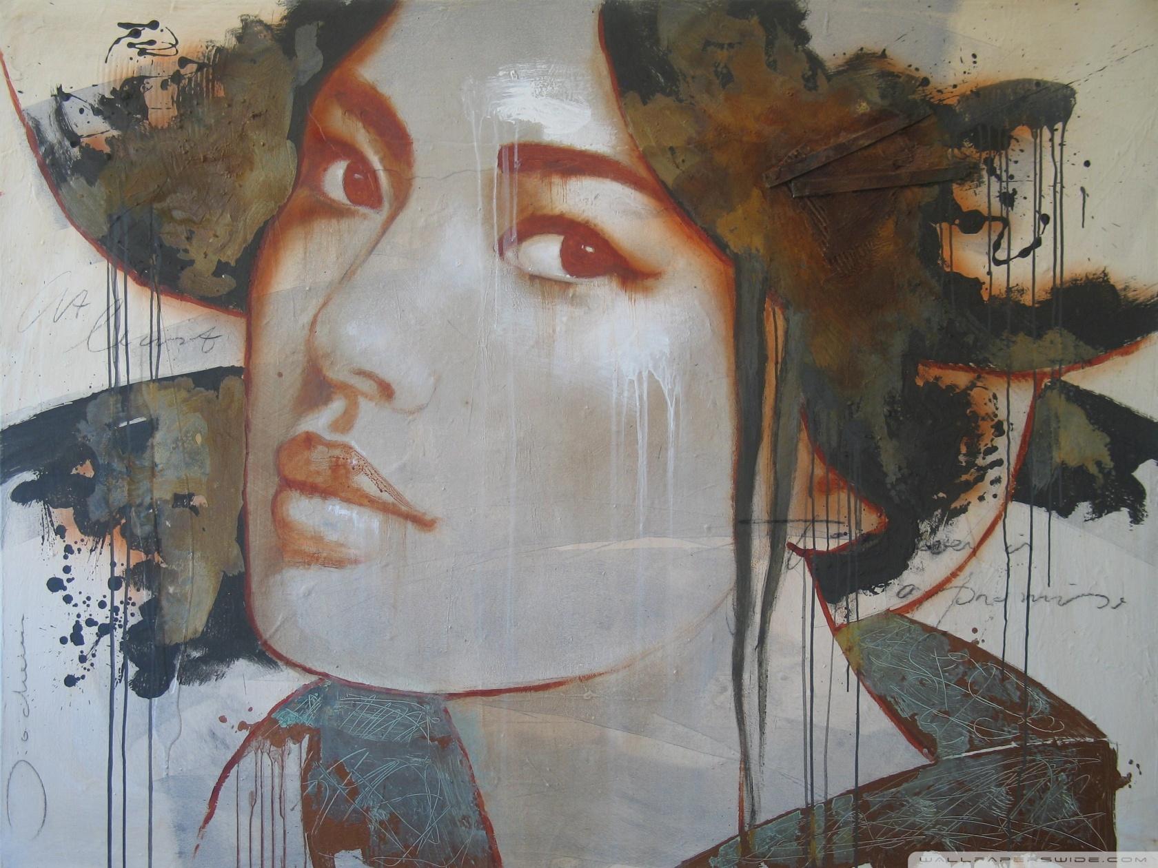 Woman Portrait Graffiti 4K HD Desktop Wallpaper for 4K