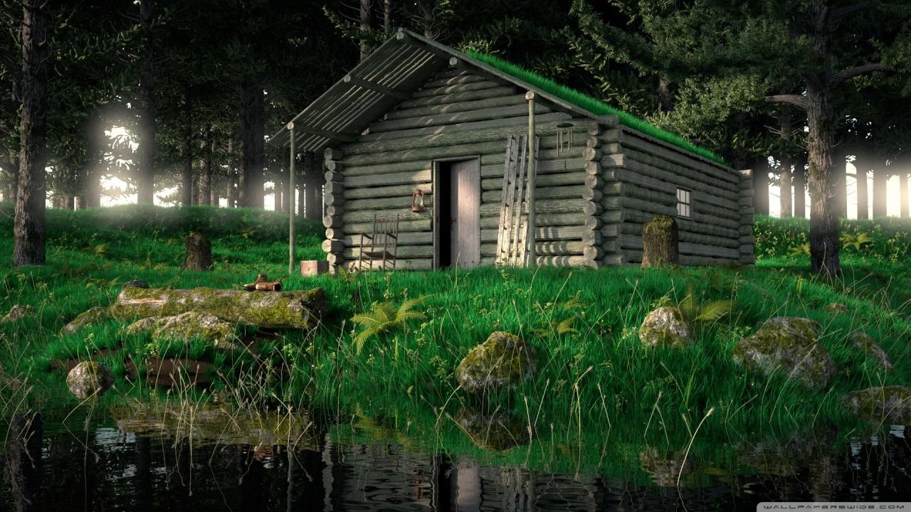 Fall Hunting Wallpaper Wood Cabin In The Woods 3d 4k Hd Desktop Wallpaper For 4k