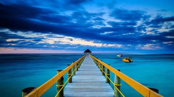 Blue Ocean Background WallpaperTag