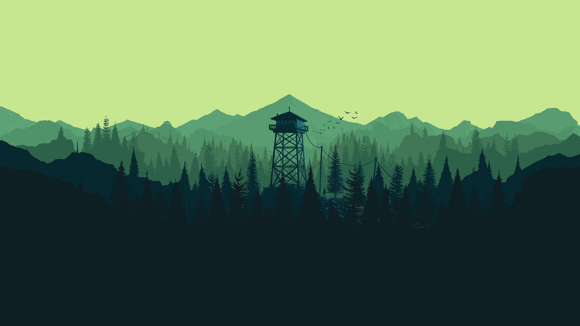 Gravity Falls Wallpaper Forest 38 Firewatch Wallpapers 183 ① Download Free Beautiful High