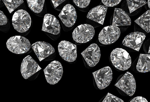 Black and White Diamond Silver Background