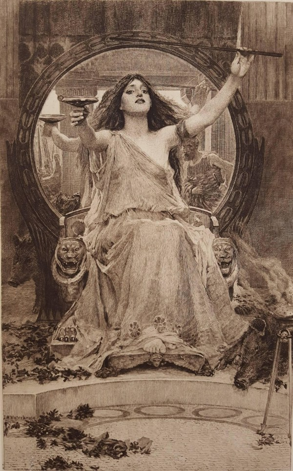 John Waterhouse Circe Offering the Cup to Ulysses