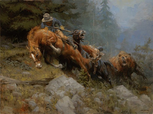 Grizzly Bear Mountain Painting Andy Thomas