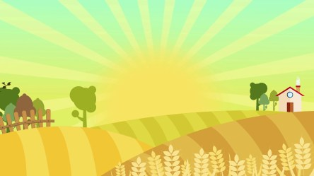 farm cartoon background animation hd colorful wheat nice 4k illustration animated autumn backgrounds landscape seamless loop text space filed sunburst