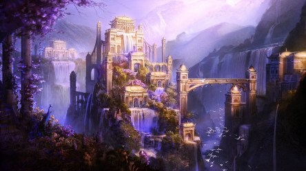 castle fantasy background hd wallpapers desktop awesome laptop wallpapertag phone