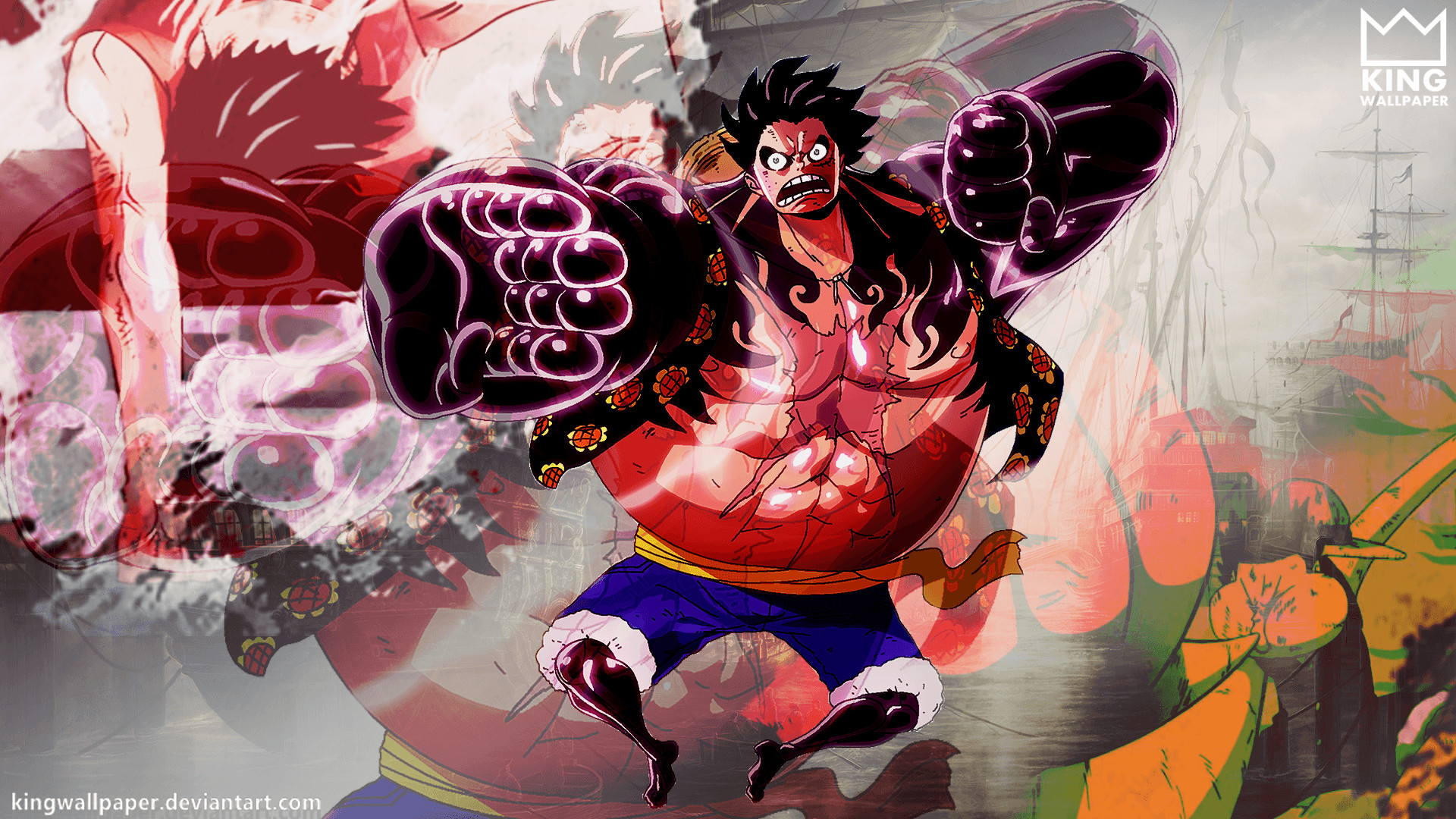 1920x1200 one piece luffy wallpapers full hd on wallpaper 1080p hd   wallpaper>. Gear Fourth Wallpapers ·① WallpaperTag