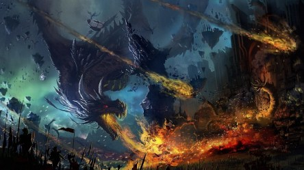 dragon fire flame war battle fall preview wallpapertag phone
