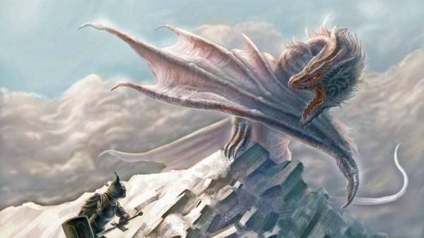 Cool White Dragon Wallpaper