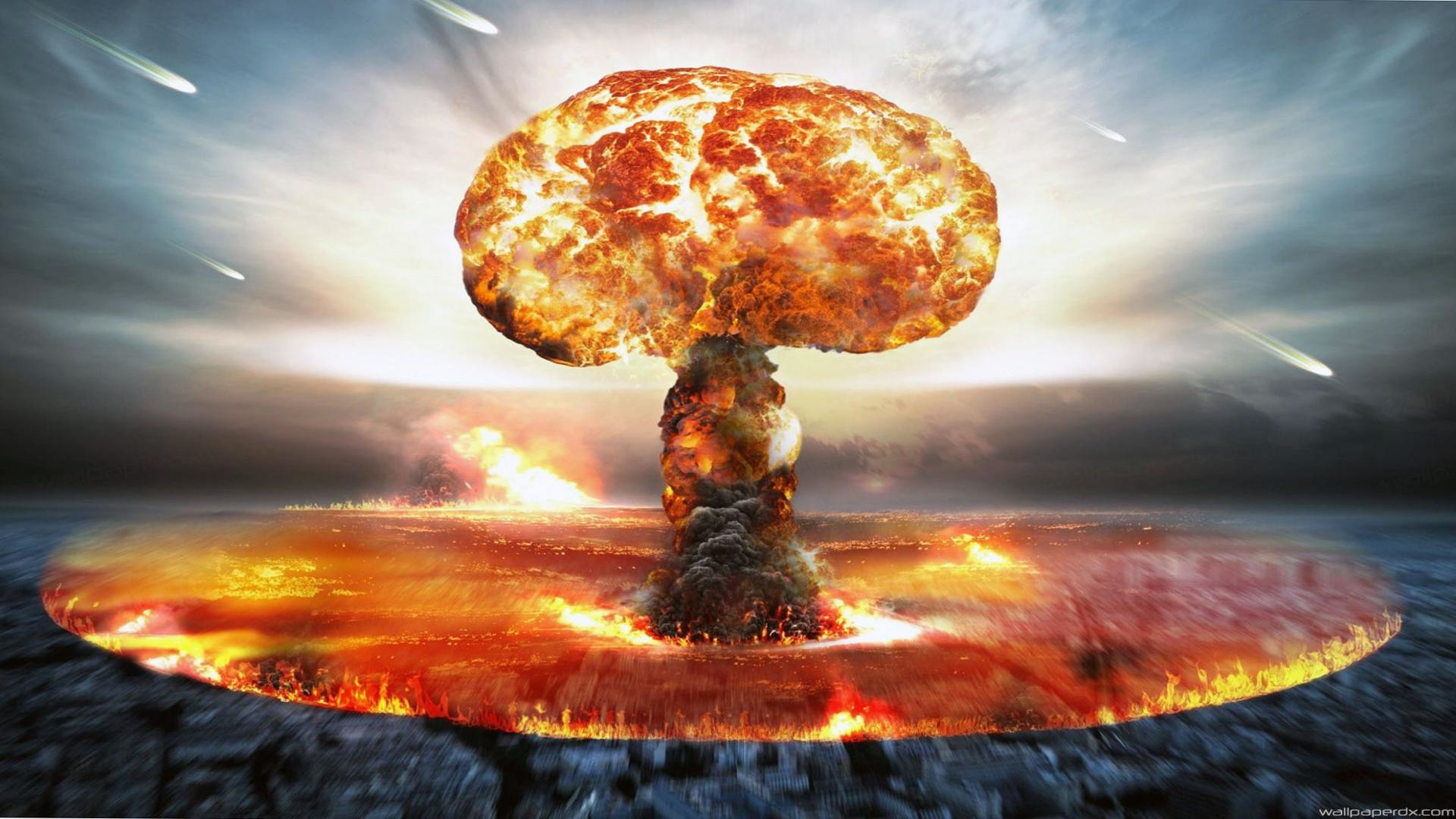 nuclear explosion wallpaper ·①