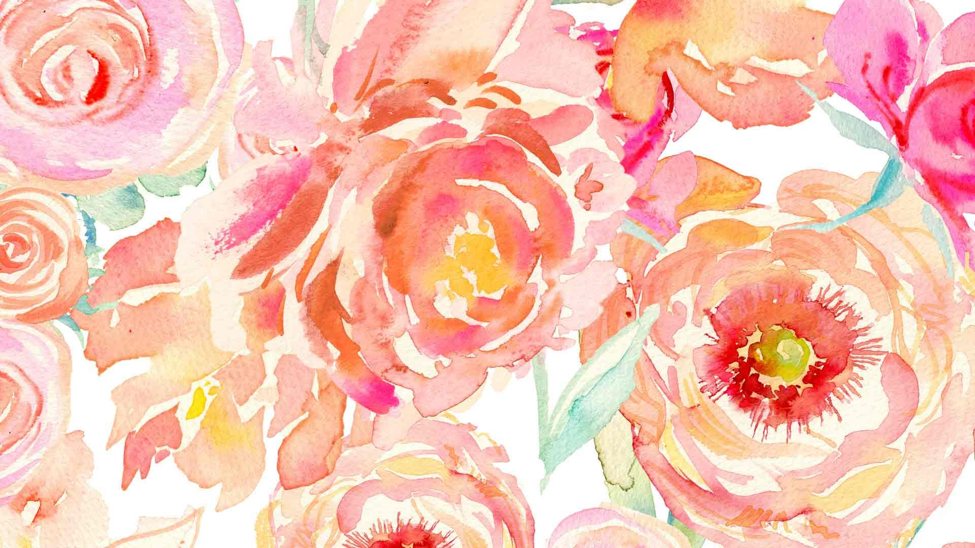 Orange Fall Peony Wallpaper Watercolor Background Tumblr 183 ① Download Free Beautiful