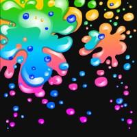 Neon Rainbow Background Designs