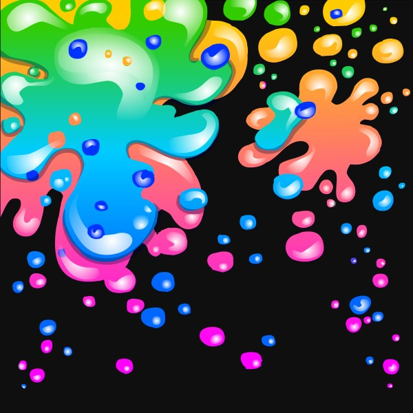 Neon Paint Splatter