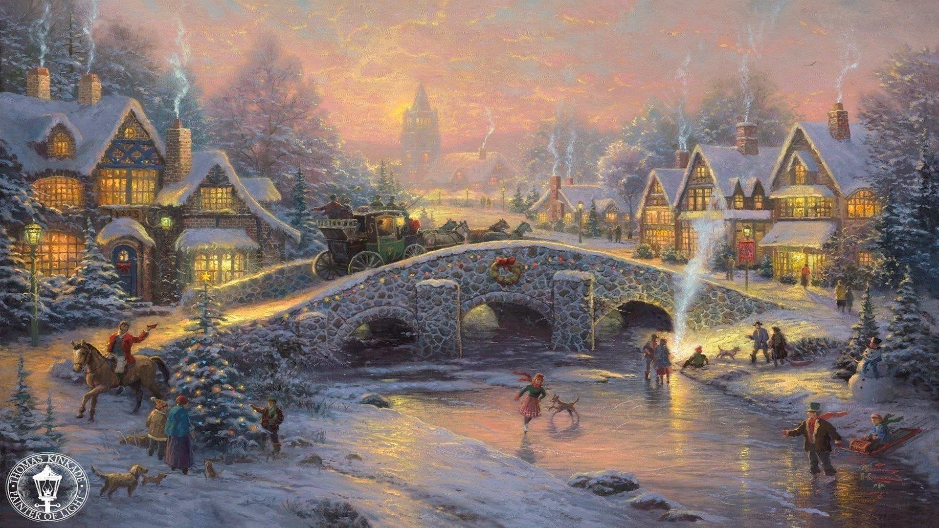 Hd Fireplace Video The Most Downloaded Hd Fireplace Video Thomas Kinkade Winter Wallpaper ·① Wallpapertag