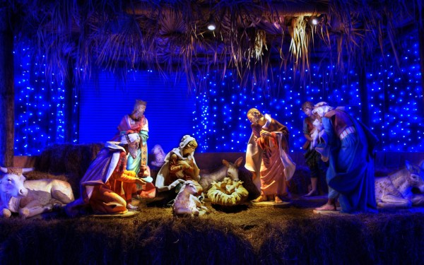 Christmas Nativity Scene for Facebook