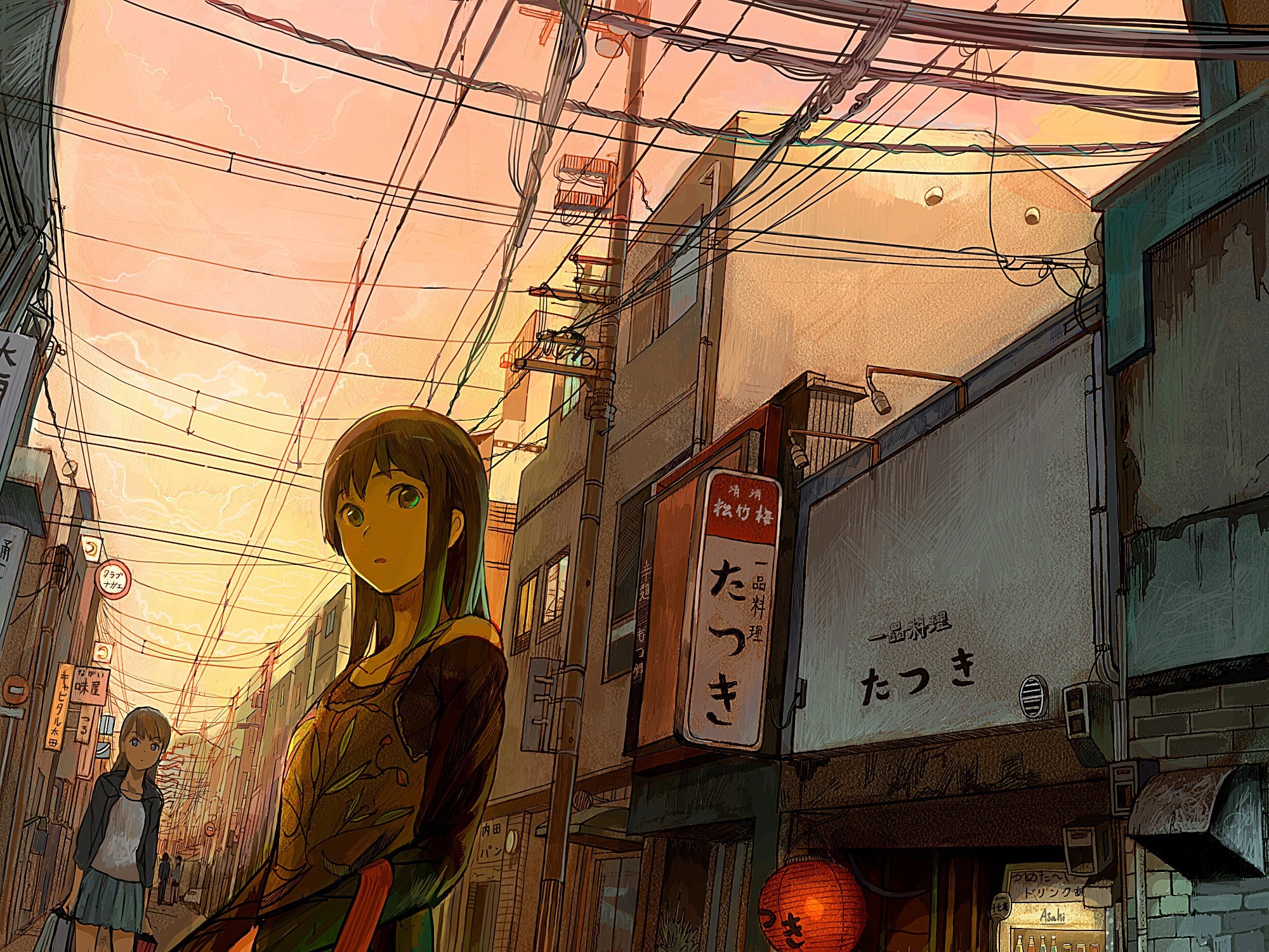 Phone Wallpaper Boy And Girl Sunset Anime Anime City Wallpaper 183 ① Download Free Beautiful Wallpapers