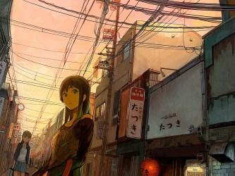 anime walks through wallpapers desktop laptop iphone wallpapertag android