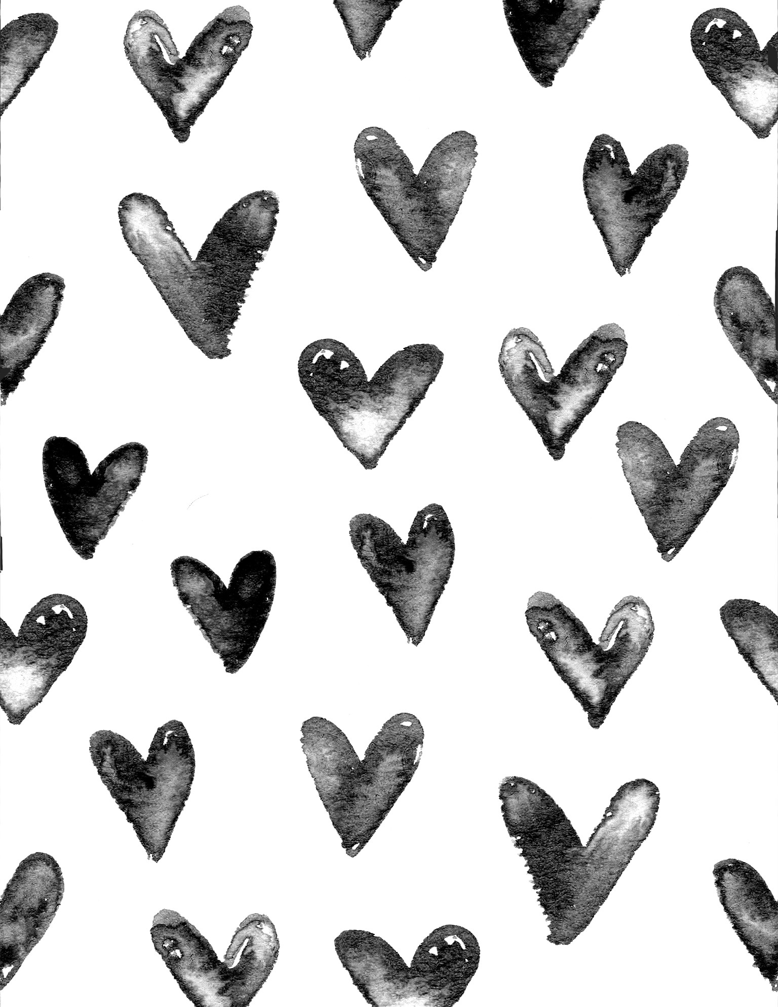 Black and White Hearts Background ·① WallpaperTag